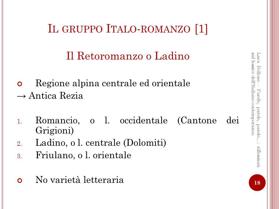 Il gruppo Italo-romanzo [1]